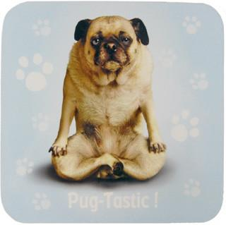 Pug Tastic Dog Coaster - Yoga Pets