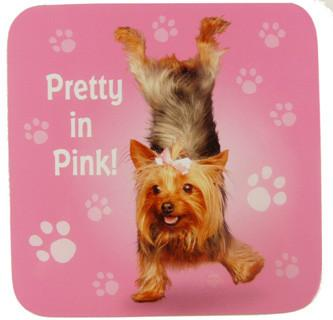 Pretty In Pink Dog Coaster - Yoga Pets