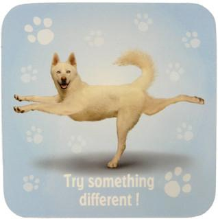 Try Something Dog Coaster - Yoga Pets