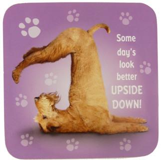 Upside Down Dog Coaster - Yoga Pets