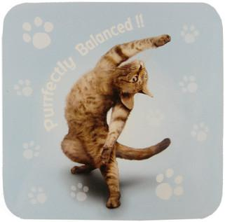 Purrfectly Cat Coaster - Yoga Pets