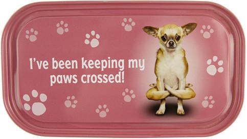 Paws Crossed Dog Fridge Magnet - Yoga Pets