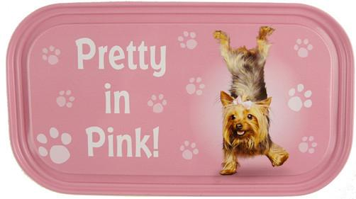 Pretty In Pink Dog Fridge Magnet - Yoga Pets