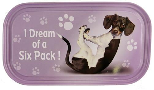 Dream Six Pack Dog Fridge Magnet - Yoga Pets