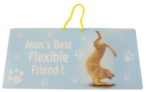 Flexible Friend Dog Hanging Sign - Yoga Pets