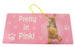 Pretty In Pink Dog Hanging Sign - Yoga Pets