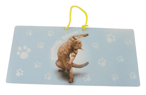 Purrfectly Cat Hanging Sign - Yoga Pets