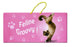 Feline Groovy Cat Hanging Sign - Yoga Pets
