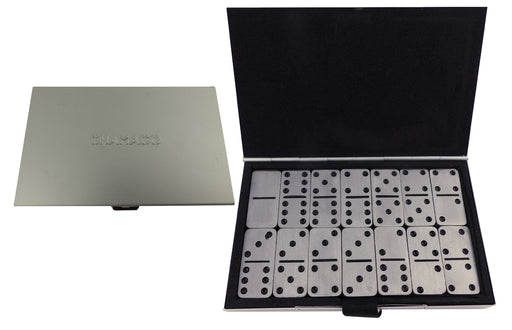 Chamaco Aluminium Gift Boxed 28 Piece Domino Set