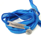 Silk Ribbon Wrap Bracelet | Exclusive Slide Clasp | Wanderlust
