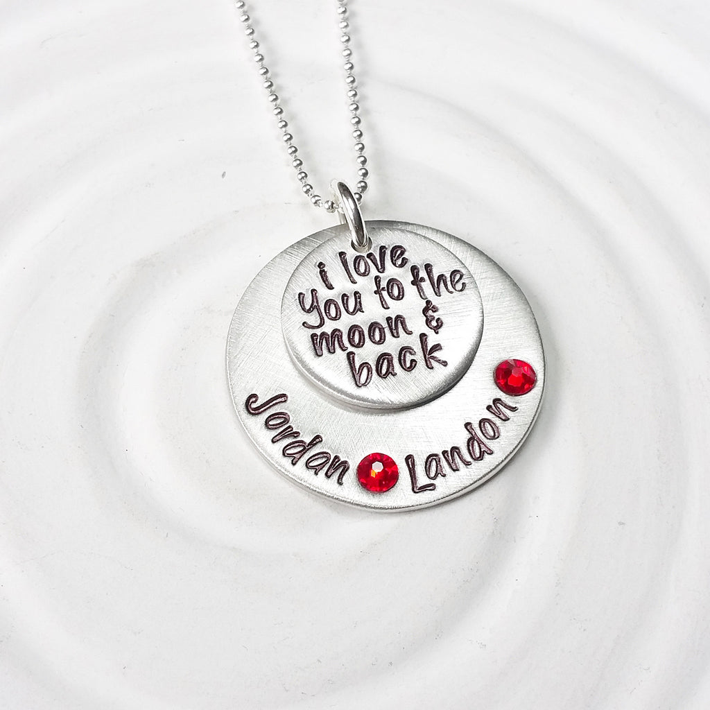 I Love You To The Moon & Back | Birthstone Necklace