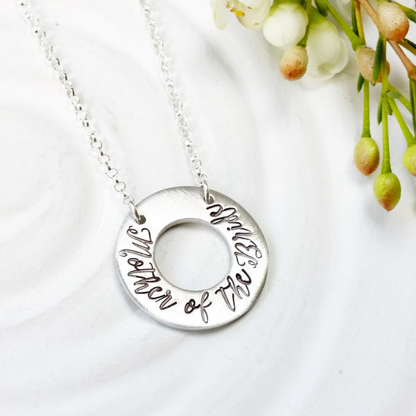 Mother of the Bride | Fixed Washer Necklace