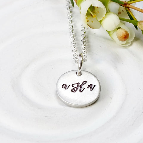 Monogram Necklace | Bridal Party Gift