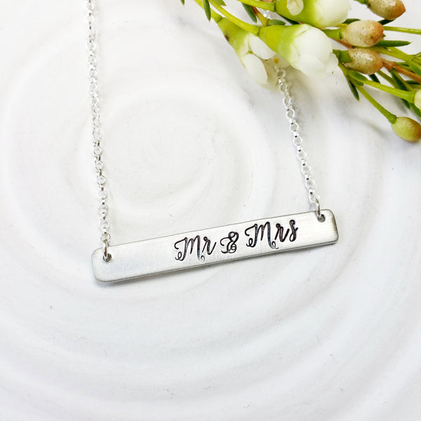 Mr. & Mrs. Necklace | Wedding Necklace