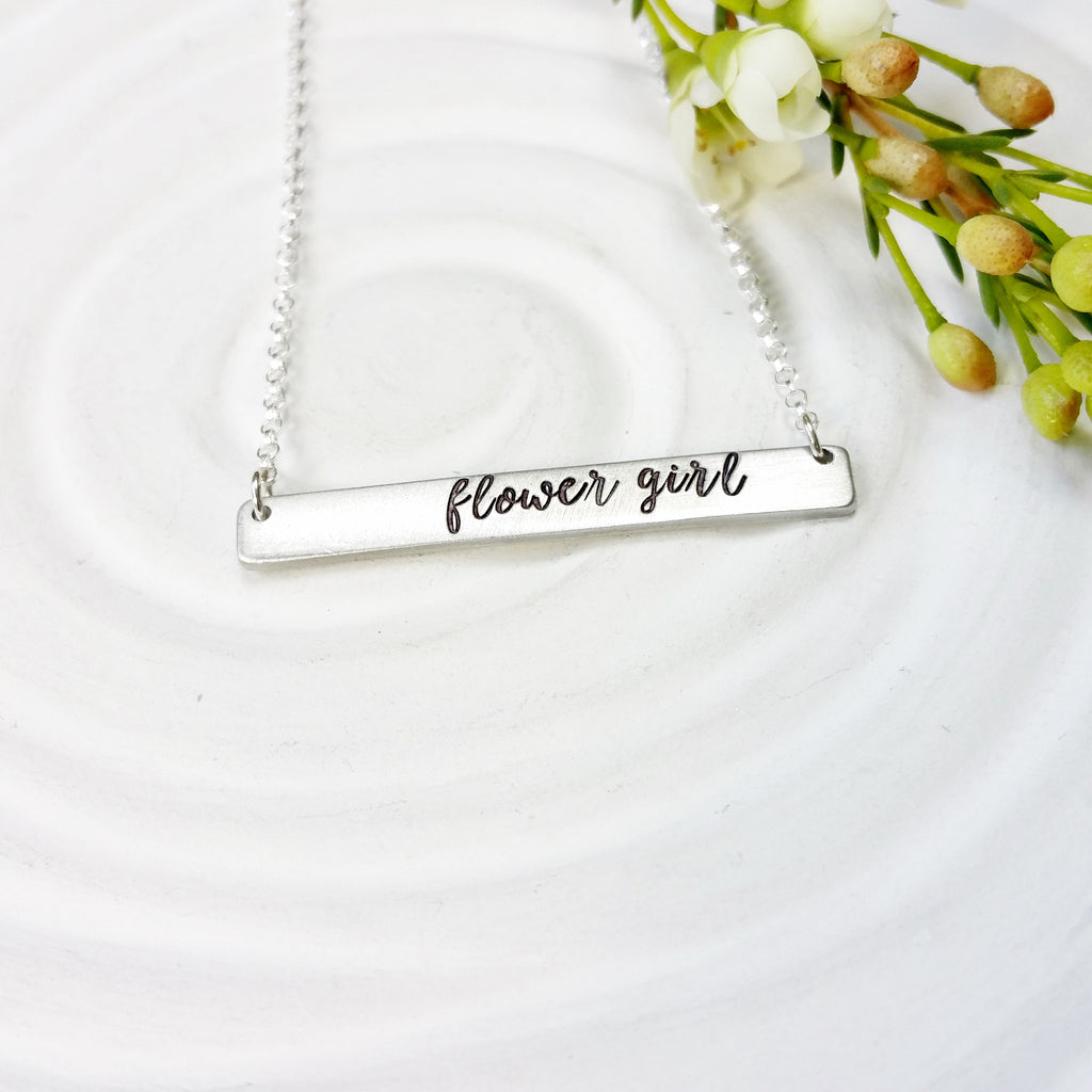 Flower Girl Necklace | Bridal Party Jewelry