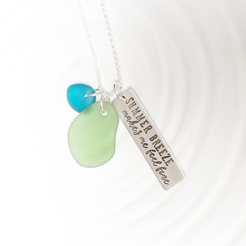 Sea Glass Tag Necklace | Summer Breeze
