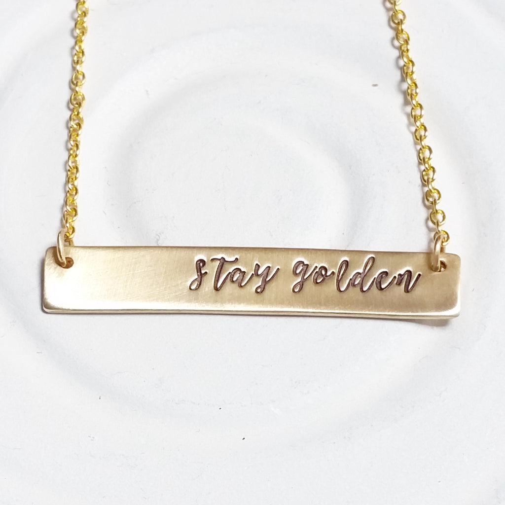 Stay Golden | Golden Glow Bar Necklace