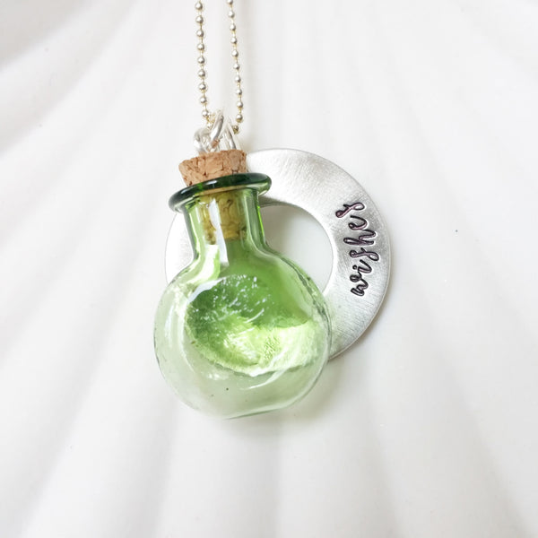 Glass Bottle Necklace | Wish Necklace