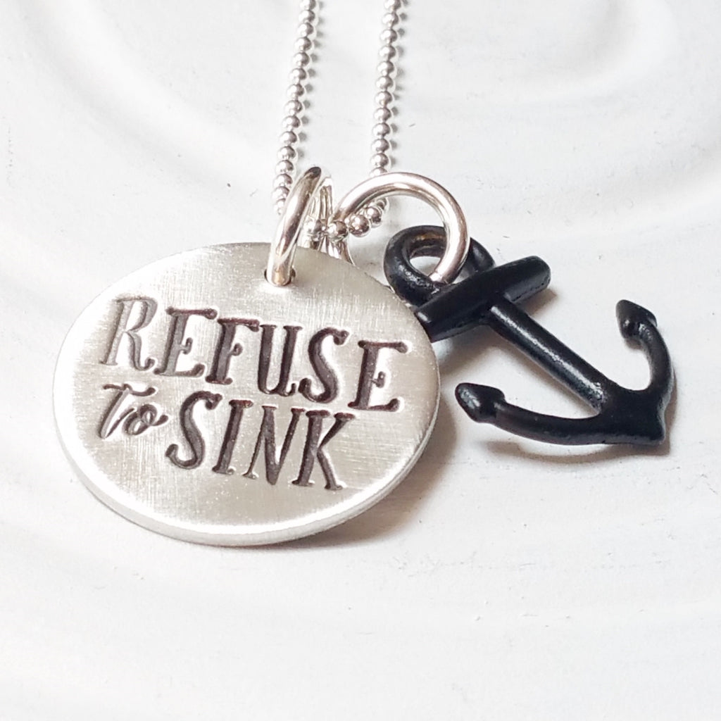 Refuse to Sink | Anchor Necklace