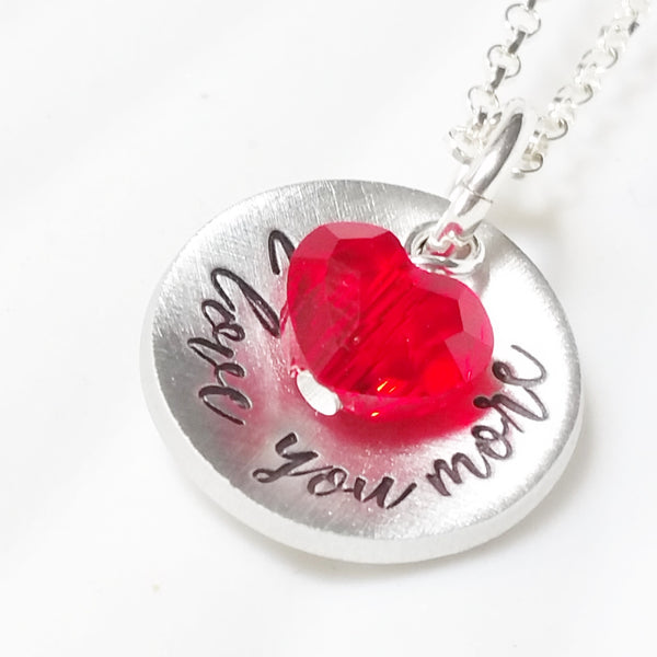 Itty Bitty I Love You More | Crystal Heart Necklace