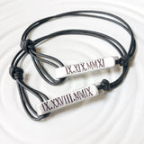 Personalized Fold Over Clasp | Leather Bracelet | Men's or Women's Sizes