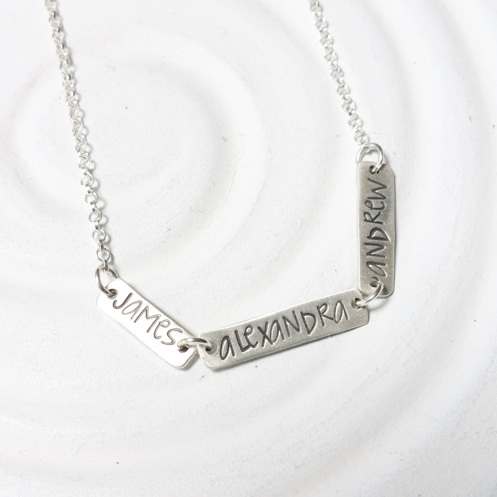 Mini Linked Name Necklace | Multi Name Necklace