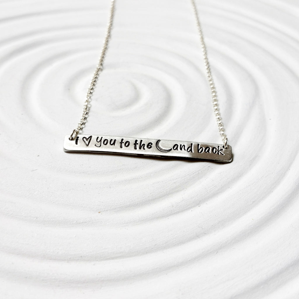 I Love You To The Moon & Back | Bar Necklace