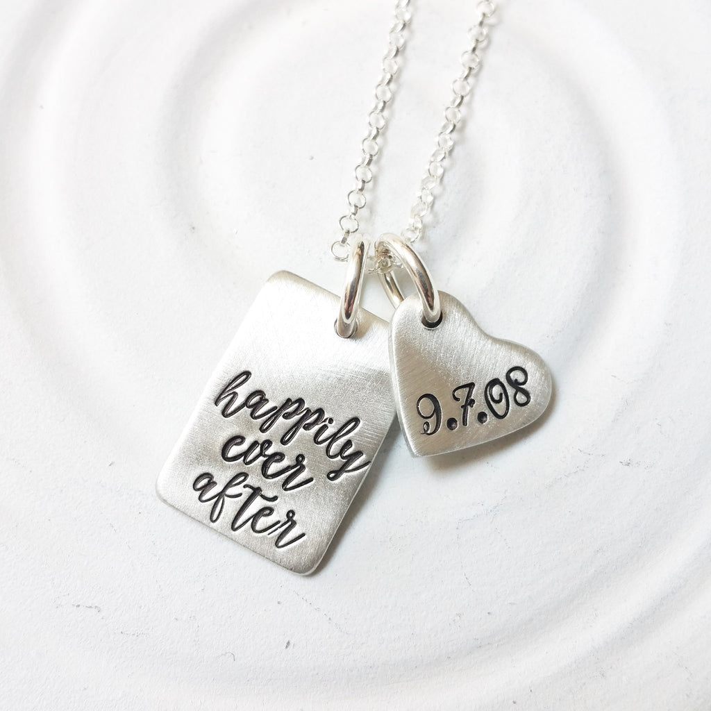 Happily Ever After | Wedding Date Necklace