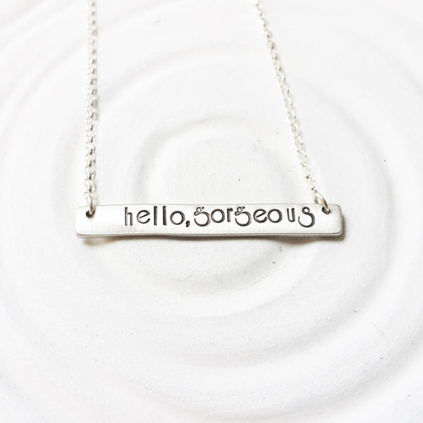 Hello, Gorgeous | Bar Necklace
