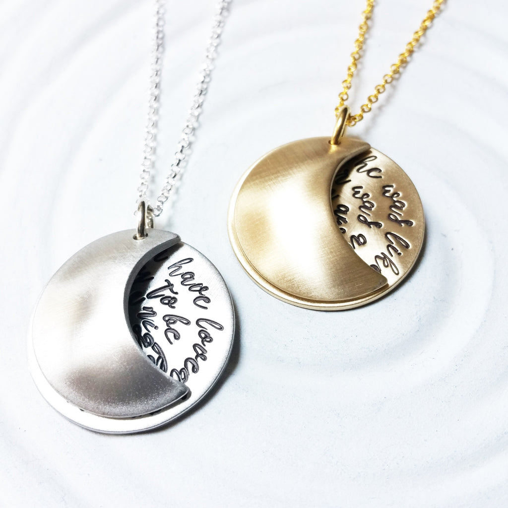 Moon Locket Necklace | Moon Quotes