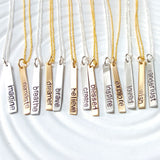 Inspirational Word Necklace | Skinny Tag Necklace