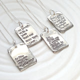 Vintage Page | Large Literary Quote Necklace