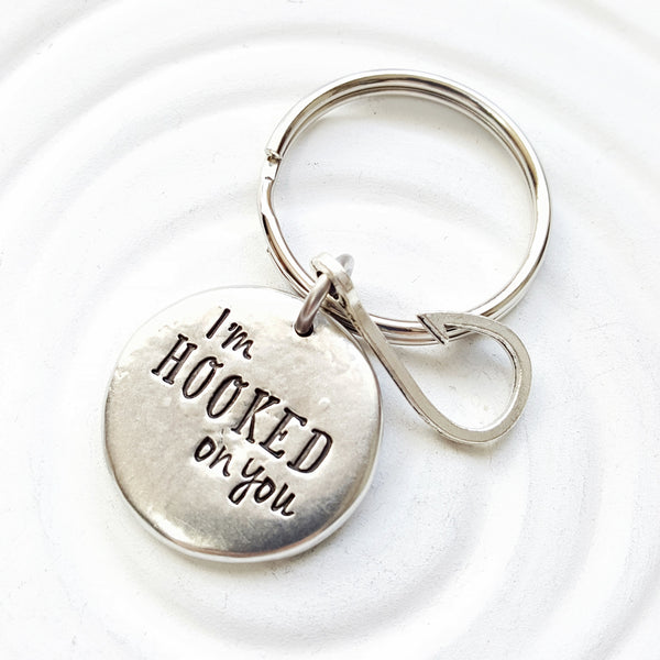 I'm Hooked on You Keychain | Gift for Him