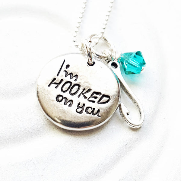 I'm Hooked on You Necklace| Gift for Her