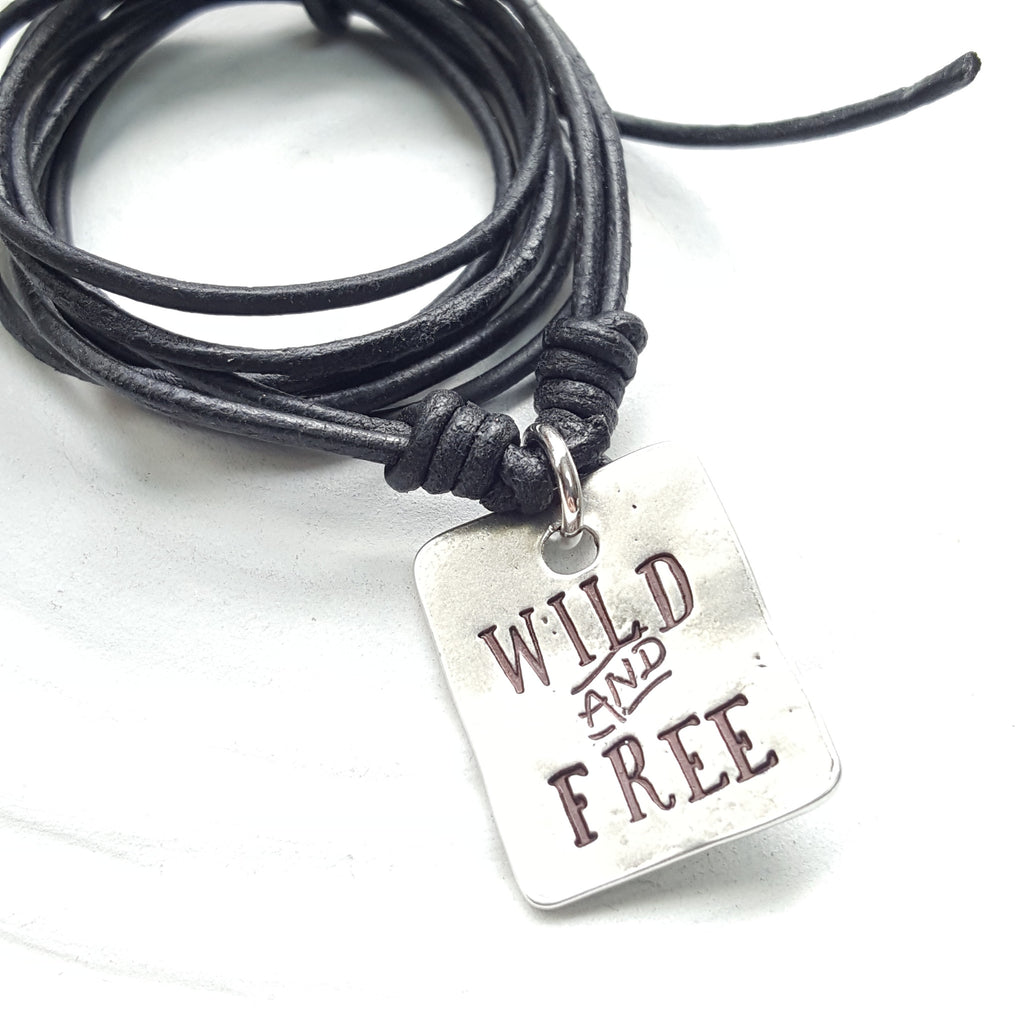 Wild and Free | Tag Necklace | Chain Option Available