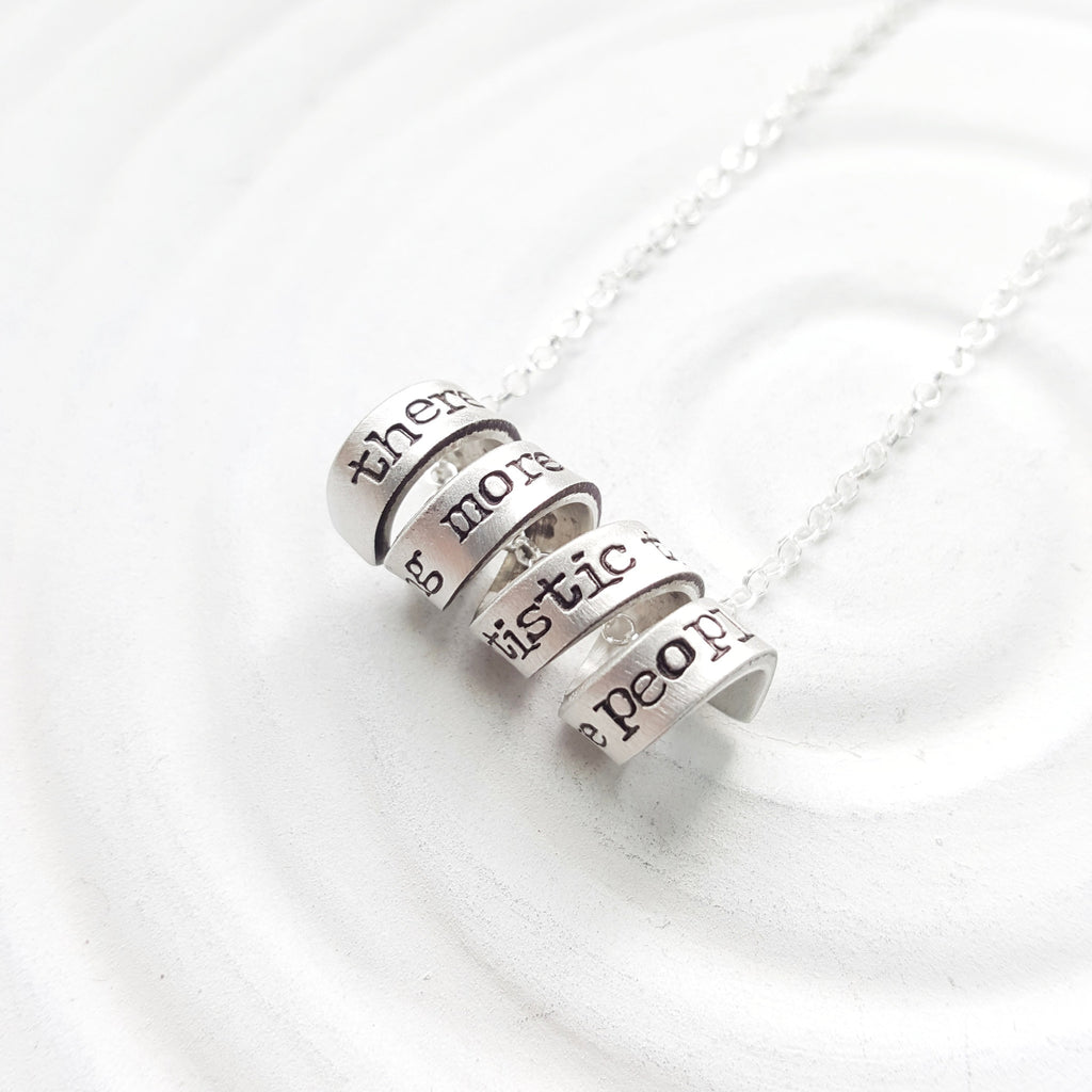 Mini Spiral Message Necklace | Vintage Page