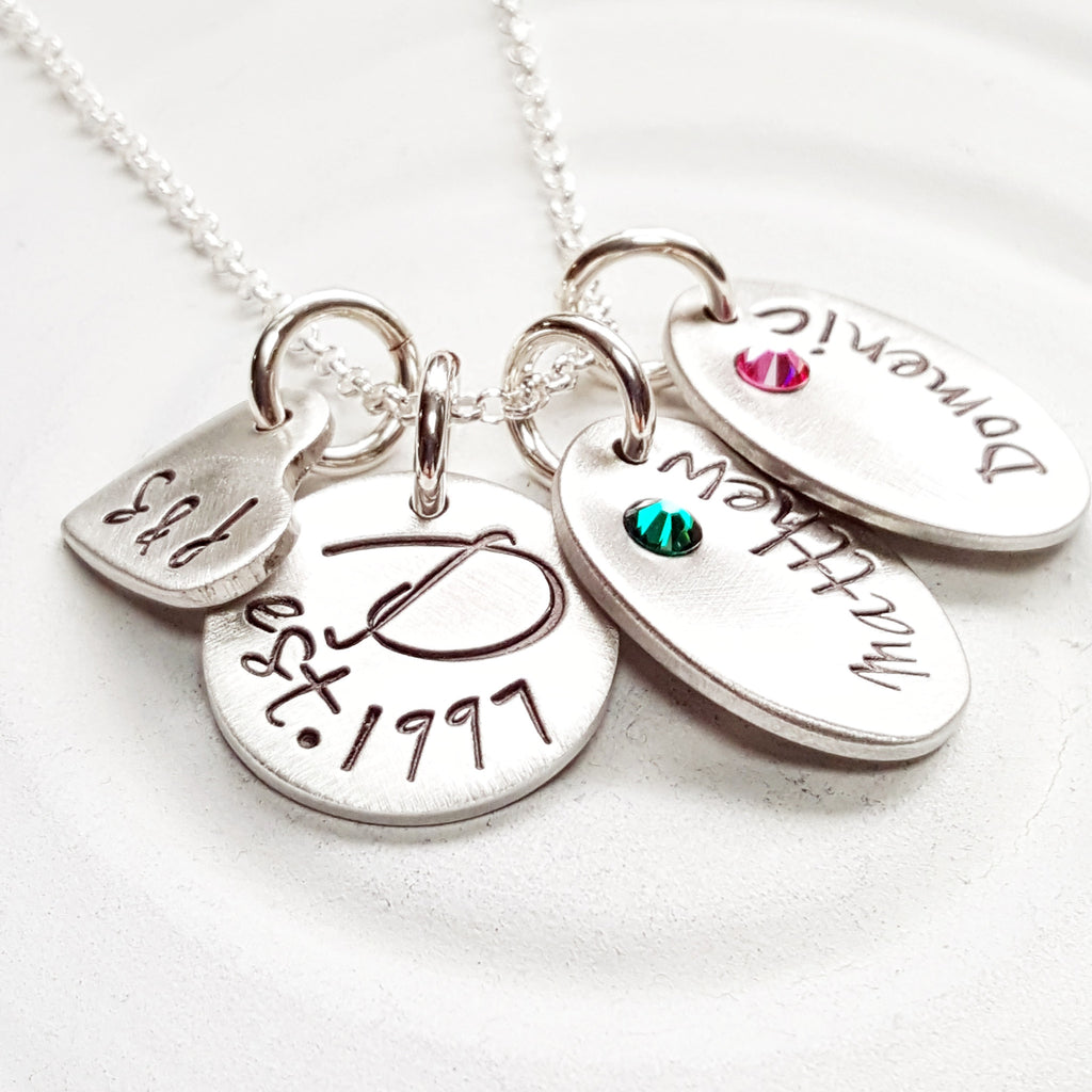 Family Necklace | Birthstone Mother's Necklace