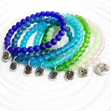 Sea Glass Bracelet | Choose Your Color and Image