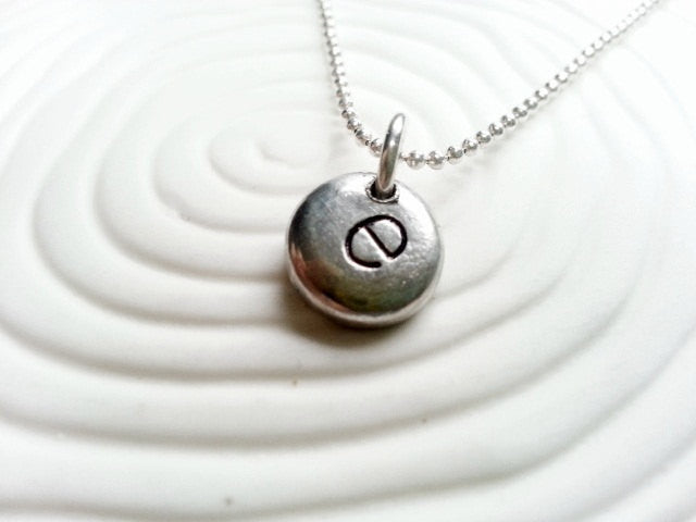 Personalized Initial- Hand Stamped Initial Necklace- Customized Initial Necklace