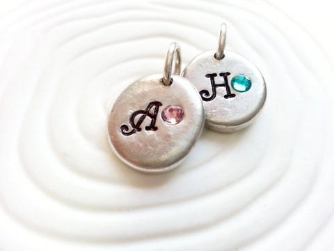 Birthstone Initial Charm | Add A Charm | Mother's Jewelry