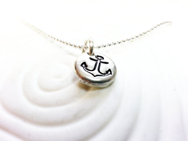 Anchor Necklace - Refuse to Sink - Inspirational Jewelry - Nautical Necklace