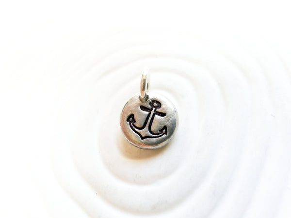 Anchor Charm - Nautical Necklace Charm - Refuse to Sink Anchor Charm