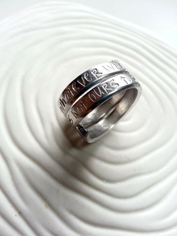 Secret Message Ring | Stacked Look Ring