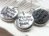 AA Milne Quote Necklace - Braver Than You Believe - Personalized - Hand Stamped Inspirational Jewelry - Motivational Necklace - Graduation