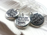 Braver Than You Believe - Stronger Than You Seem - Smarter Than You Think Pebble Necklace
