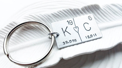 Periodic Table Couples Keychain | Pick Any Two Elements
