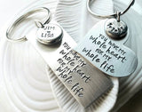 You Have My Whole Heart For My Whole Life Keychain Set | Single or Pair of Keychains