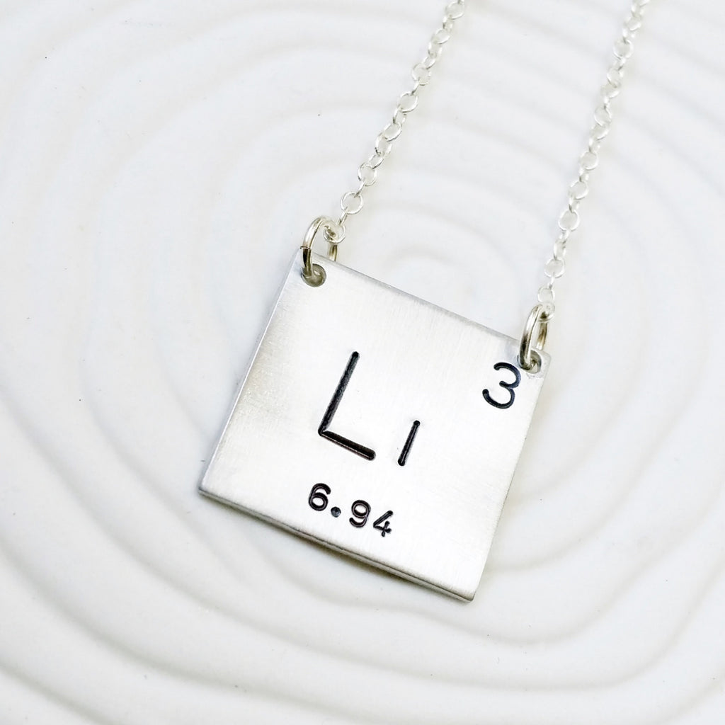 Periodic Table Element Necklace - Hand Stamped Jewelry, Personalized Jewelry - Science Gift - Gift for Her - Geek Gift - Choose Your Element