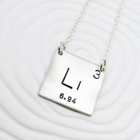 Periodic Table Element Necklace | Choose Your Element
