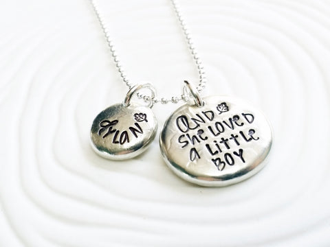 And She Loved A Little Boy Necklace | Giving Tree Quote | Shell Silverstein Quote